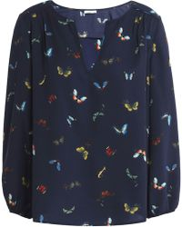 Joie - Odelette Printed Crepe Blouse - Lyst