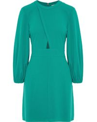 Tibi - Woman Savannah Cutout Crepe Mini Dress Emerald - Lyst