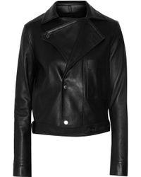 Helmut Lang - Belted Leather Biker Jacket - Lyst