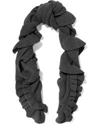 Stella McCartney - Ruffled Ribbed Wool Scarf - Lyst