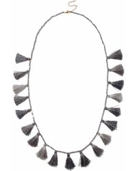 Kenneth Jay Lane - Tasselled Beaded Necklace - Lyst