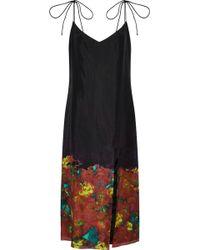 Acne Studios - Floral-print Silk Midi Dress - Lyst
