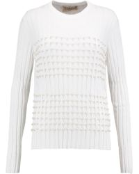 Emilio Pucci | Faux Pearl-embellished Knitted Jumper | Lyst