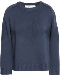 Goat - Merino Wool Sweater Storm Blue - Lyst