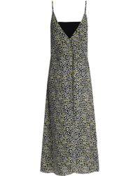 Marni - Printed Silk-chiffon Midi Dress - Lyst