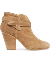 Rag & Bone - Harrow Suede Ankle Boots - Lyst