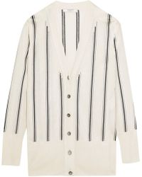 Lanvin - Striped Knitted Cardigan - Lyst