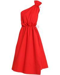 Goen.J - One-shoulder Wrap-effect Woven Midi Dress - Lyst
