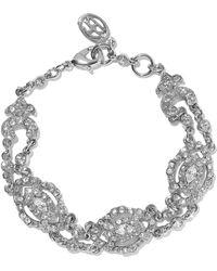 Ben-Amun - Silver-tone Crystal Bracelet - Lyst