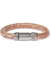 Acne Studios - Jack Braided Cord And Silver-tone Bracelet - Lyst