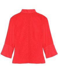 Cefinn - Woman Gauze Top Red - Lyst
