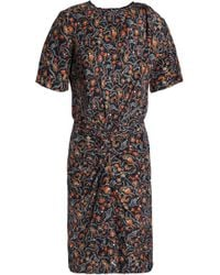 Isabel Marant - Twisted Printed Silk Dress - Lyst