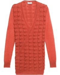 Vionnet - Wrap-effect Jacquard-knit Mohair-blend Sweater - Lyst