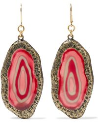 Kenneth Jay Lane - Burnished Gold-tone Resin Earrings - Lyst