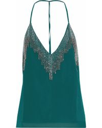 W118 by Walter Baker - Bead-embellished Chiffon Camisole - Lyst