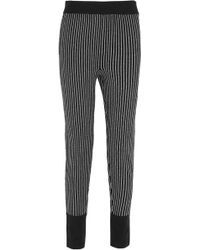 Raquel Allegra - Striped Merino Wool And Cashmere-blend Track Trousers - Lyst