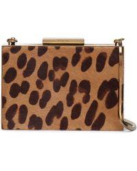 Lanvin - Leopard-print Calf Hair Box Clutch Animal Print - Lyst