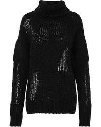 IRO - Dalos Open-knit Turtleneck Sweater - Lyst