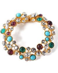 Ben-Amun - Silver-tone, Swarovski Crystal And Stone Bracelet - Lyst
