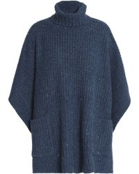 Rebecca Minkoff - Ribbed-knit Poncho - Lyst