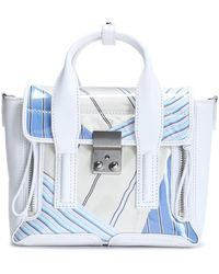 3.1 Phillip Lim - Pashli Leather And Printed Canvas Shoulder Bag - Lyst