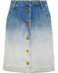 Tomas Maier - Dégradé Denim Skirt - Lyst