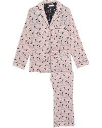 YOLKE Printed Cotton-poplin Pyjama Set Blush