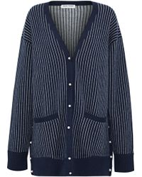 Opening Ceremony - Faux Pearl-embellished Jacquard Wool Cardigan - Lyst