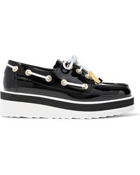 Pierre Hardy - Embellished Patent-leather Wedge Brogues - Lyst