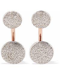Monica Vinader - Stellar Rose Gold-plated Diamond Earrings - Lyst