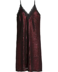 House of Holland - Lace-trimmed Metallic Jacquard Mini Dress - Lyst