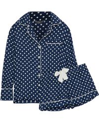 Three J Nyc - Polka Dot Silk-satin Pajama Set - Lyst