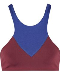 Olympia - Lyon Two-tone Stretch-jersey Sports Bra - Lyst