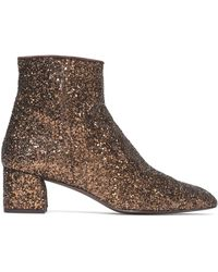 Castaner - Glittered Leather Ankle Boots - Lyst