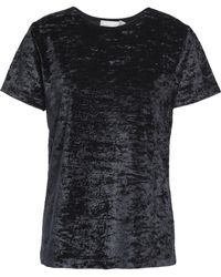 Vince - Woman Chenille Top Charcoal - Lyst