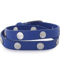 Tory Burch - Studded Leather Bracelet - Lyst