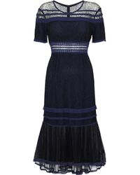 Jonathan Simkhai - Crochet-trimmed Corded Lace And Tulle Dress - Lyst