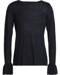Goat Library - Woman Stretch-knit Top Navy - Lyst