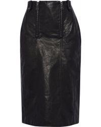 Belstaff - Paneled Leather Skirt - Lyst