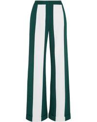 Monse - Striped Silk-blend Wide-leg Trousers - Lyst