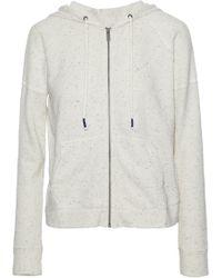 Splendid - Marled Cotton-terry Hooded Sweatshirt - Lyst