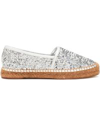 Dolce & Gabbana - Sequined Leather Espadrilles - Lyst