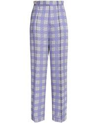 JOSEPH - Printed Crepe Wide-leg Trousers - Lyst