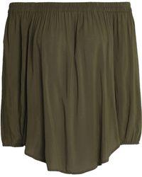 Splendid - Off-the-shoulder Chiffon Top Army Green - Lyst