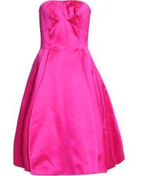 Dolce & Gabbana - Strapless Silk-satin Dress - Lyst