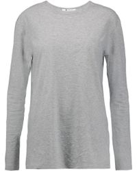 T By Alexander Wang - Cotton-jersey Top - Lyst