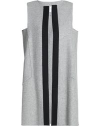 Amanda Wakeley - Grosgrain-trimmed Wool-blend Vest Light Gray - Lyst