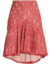 Alexis - Braxten Fluted Corded Lace Skirt - Lyst