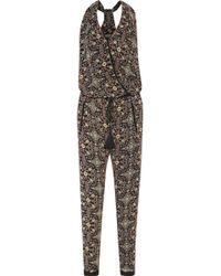 Talitha - Tasseled Printed Silk-georgette Jumpsuit - Lyst