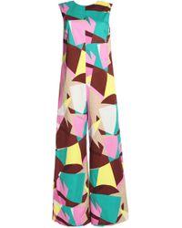 M Missoni - Printed Stretch-cotton Jumpsuit - Lyst
